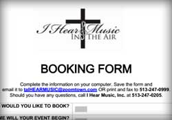Booking Form Download